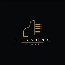 Piano Lesson Logo Design