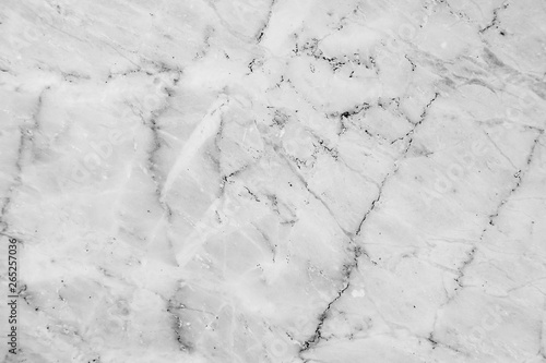 Obraz na plátně  Black and white marble texture and background with high resolution