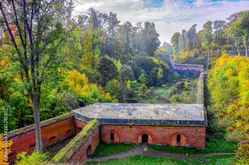 Carta da parati Historic Prussian fortress Boyen in Gizycko, Masuria, Poland