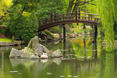 Most w Ogrodzie Japońskim; miasto Wrocław