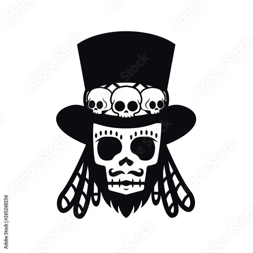 Photo Papa Legba voodoo man Halloween illustration vector