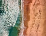 Beautiful panoramic birds eye view on ocean waves, Fuerteventura