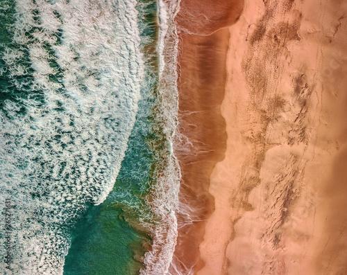 Foto Beautiful panoramic birds eye view on ocean waves, Fuerteventura