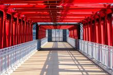 Interior Of A Pedestrian Bridg...