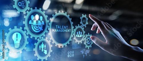 Fototapeta Talent management HR human resources management Team building concept on virtual screen