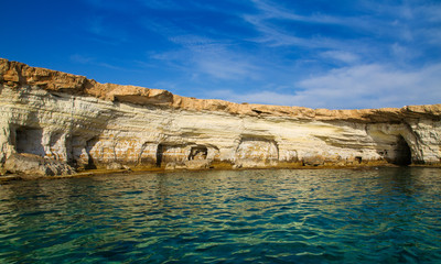 Fototapeta na wymiar Mediterranean sea landscape, coastline. Ayia Napa, Cyprus
