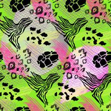 Animal Wild Skin Print Trendy Seamless Pattern.