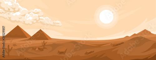 Türaufkleber Beige Desert landscape background
