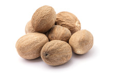 Nutmeg Isolated On White Backg...