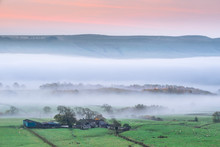 Mist Rising Over East Halton A...