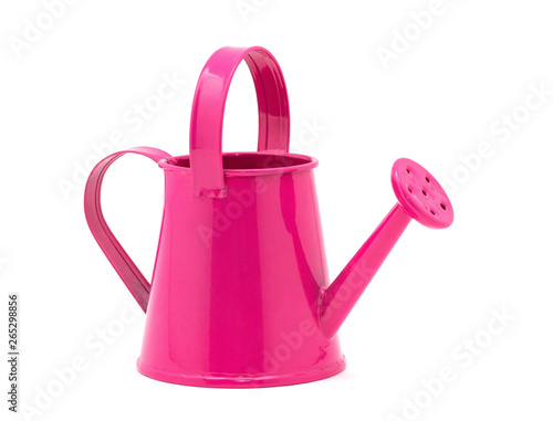 Pink watering can on a white background. Fototapeta