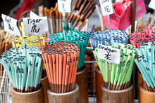 Pencils For Sale, With Chinese Zodiac Animal Signs, Singapore