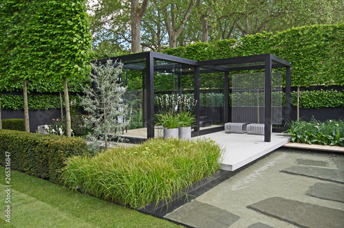 Recess Fitting Garden A cool modern garden with some Scandinavian style and a water feature