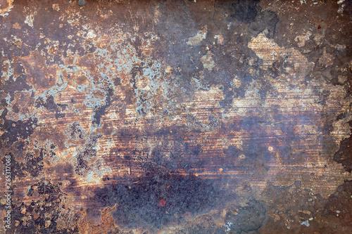 Türaufkleber Metall Old Weathered Rusty Metal Texture