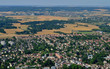 Leinwanddruck Bild Verneuil sur Seine, France - july 7 2017 : aerial picture of the town