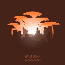 Wild West Landscape. Western S...
