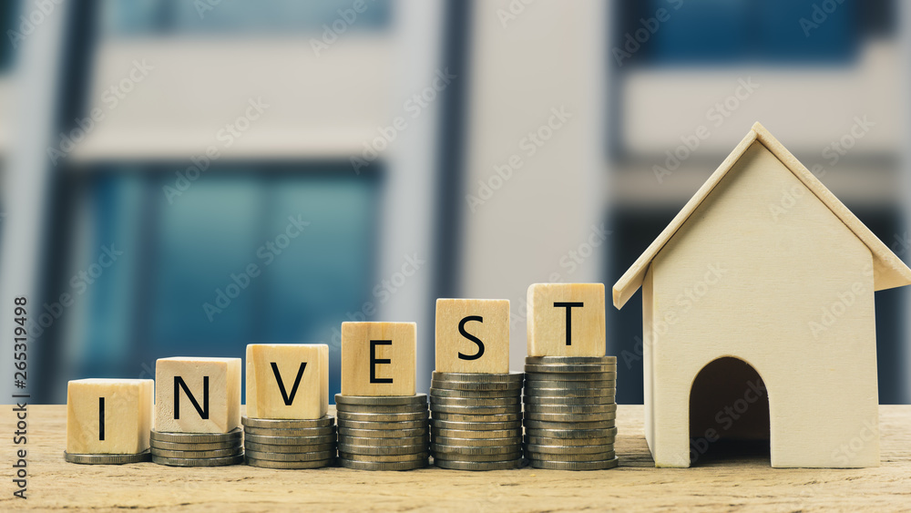 Fototapeta Real estate investment, Money savings for buy new home, Financial wealth management concept