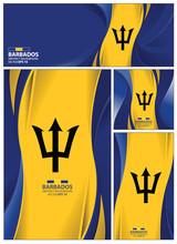 Abstract Barbados Flag Banner,...