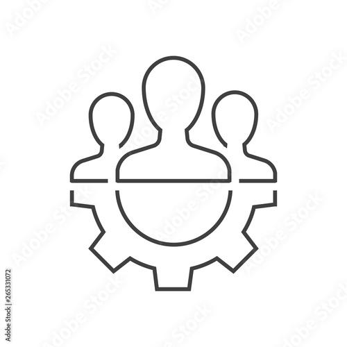 Fototapety, obrazy: Teamwork management icon