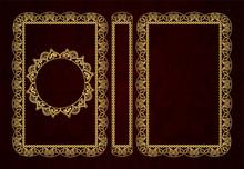 Vector Classical Book Cover. D...