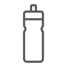 Sport Bottle Line Icon, Drink And Container, Water Bottle Sign, Vector Graphics, A Linear Pattern On A White Background.