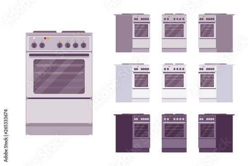 Kitchen stove set Fototapet