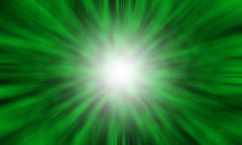 Abstract Green Color Fast Zoom Speed Motion Background