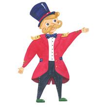 Funny Ringmaster In Hat
