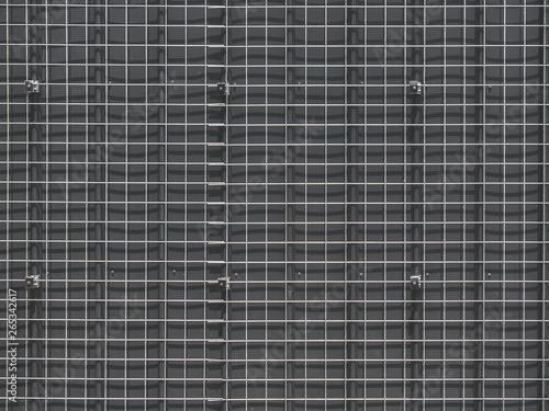 Obraz na plátně Full Frame Background of Metal Square Wire Mesh