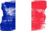 Fototapeta Fototapety Paryż - Malowana flaga