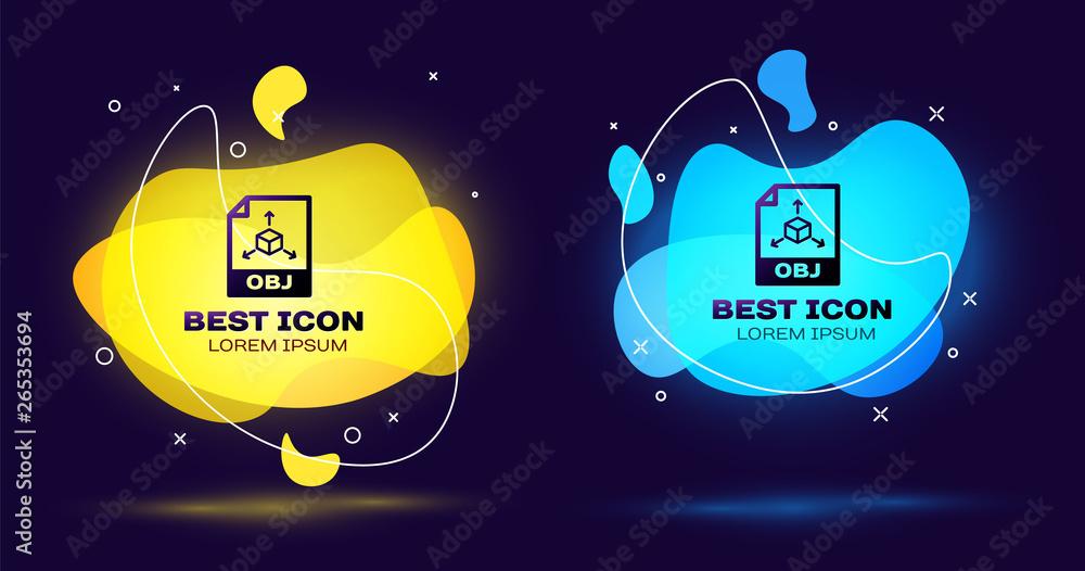 Foto Auf Acrylglas Black Obj File Document Icon Download