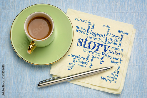story word cloud on napkin Canvas Print