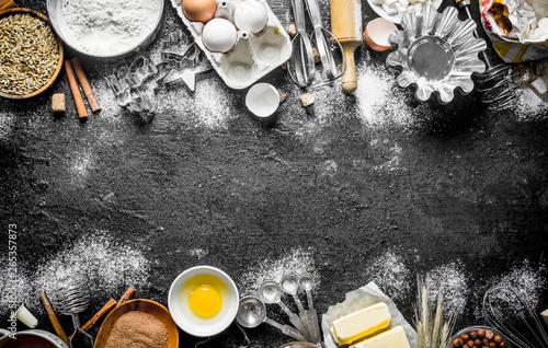 Fototapeta  Ingredients for making delicious cookies.