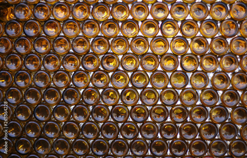 Photo Beer bottles as background