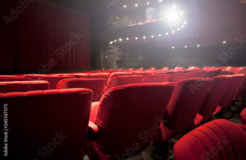 Stampa su Tela red seats at the theater