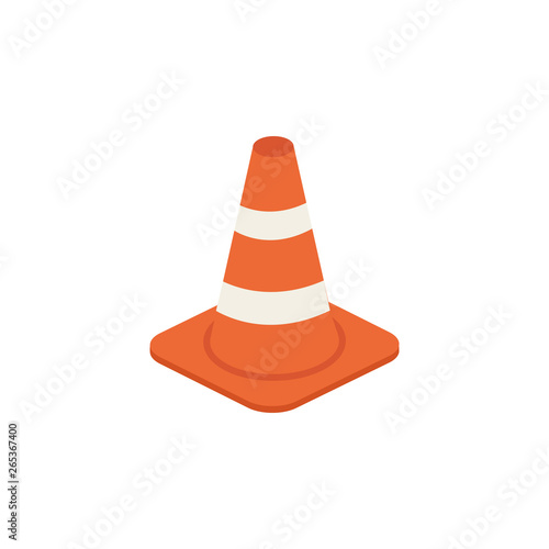 Obraz na plátně  Traffic cone vector isometric illustration