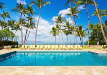 Tropical Resort Pool With Loun...