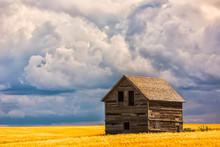 Abandoned Building Along The Roads Of Rural Saskatchewan; Saskatchewan, Canada