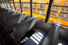 Empty Seats In A School Bus; C...