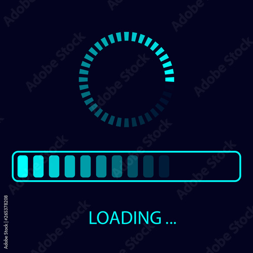 Photo Vector Loading Icon. Futuristic progress bar design.
