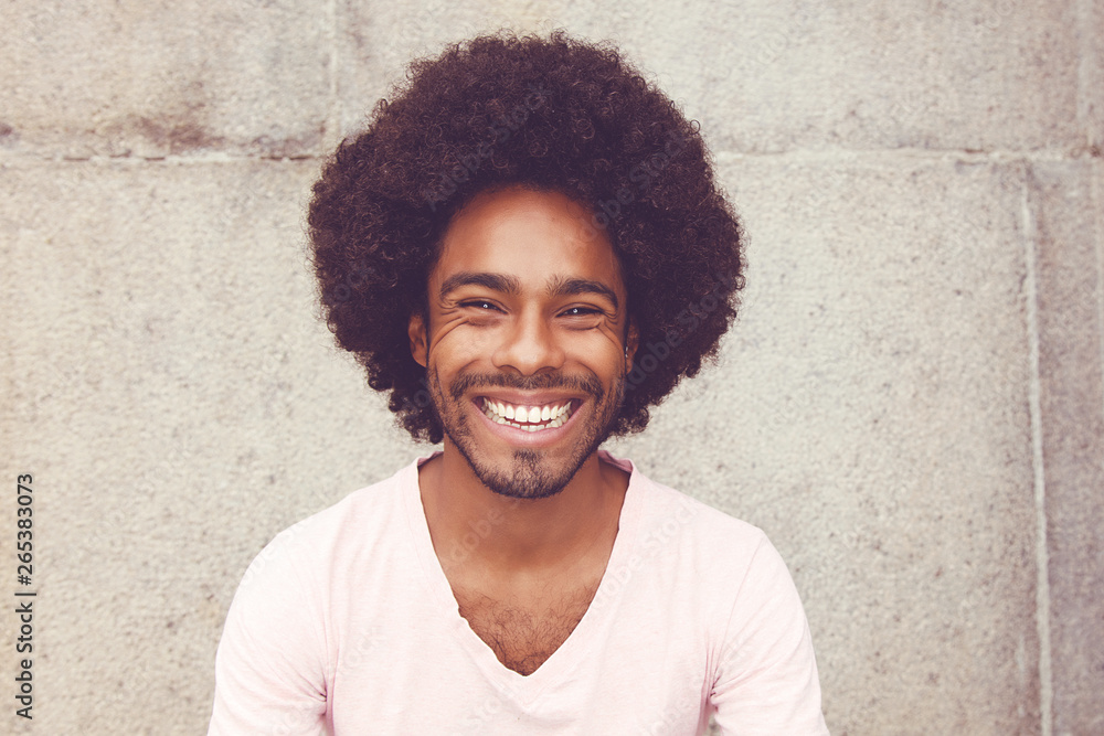 Fototapety, obrazy: Portrait of an african american hipster man