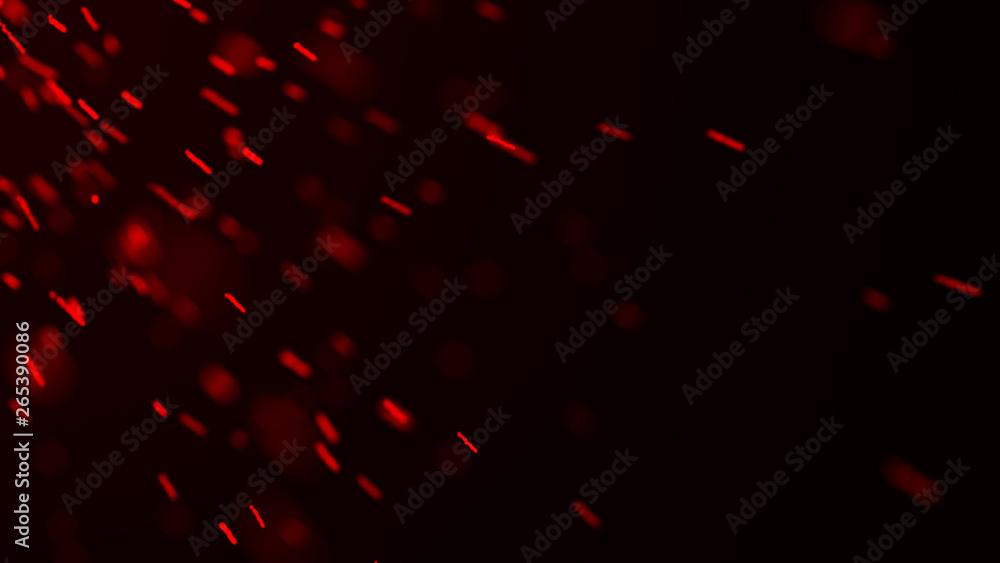 Fototapety, obrazy: ire sparks background. Burning red sparks. Fire flying sparks. Blurred bright light. 3D rendering -