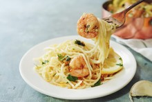 Homecooked Shrimp Scampi With ...
