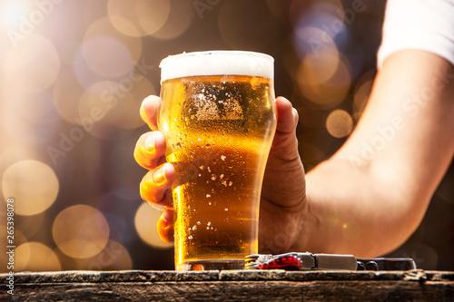 Obraz na plátně  Vaso de cerveza