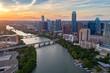 canvas print picture - Austin Aerial Skyline