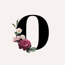 Floral Letter O Font