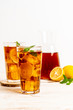 glass of ice lemon tea
