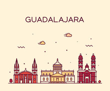 Guadalajara Skyline Jalisco Me...