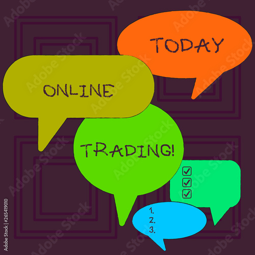 Word writing text Online Trading  Business photo showcasing