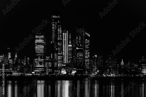 Fototapety, obrazy: New York City Manhattan Midtown Panorama at Night